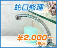 蛇口水漏れ ¥2,000(税込)~